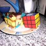 Rubik Kuchen - die Fertigstellung